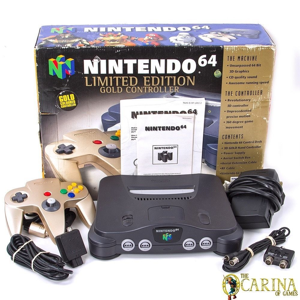 Nintendo 64 Limited Edition Gold Controller Console Bundle