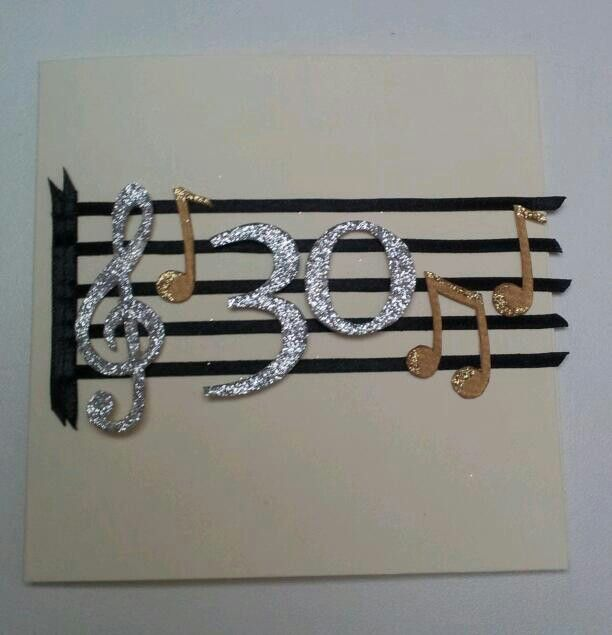 30th Birthday Card For A Singer...