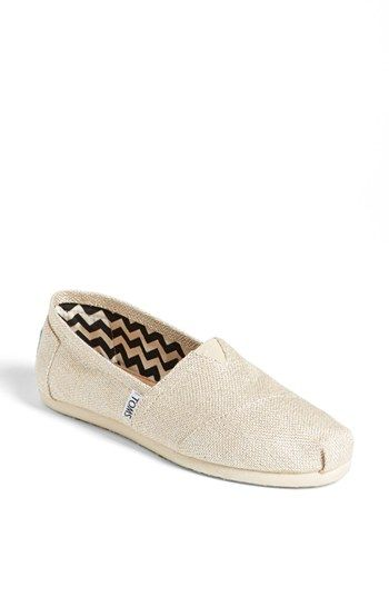 c071870bc43 TOMS  Gold Burlap Metallic - Classic  Slip-On (Women) (Save Now through  12 13) available at  Nordstrom