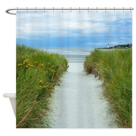 Beach Path To Lighthouse Shower Curtain on CafePress.com