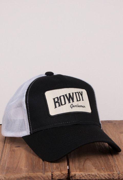 91c7ecc4c85a8 Rowdy Gentleman Tan Bar Patch Mesh Hat - Black