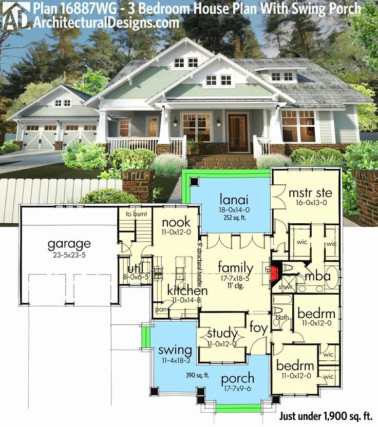 One Story House Plans With Porch Awesome Best 25 E Level