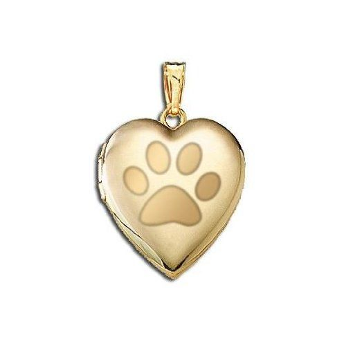 paw necklace dog print pendant book listing il locket lockets silver