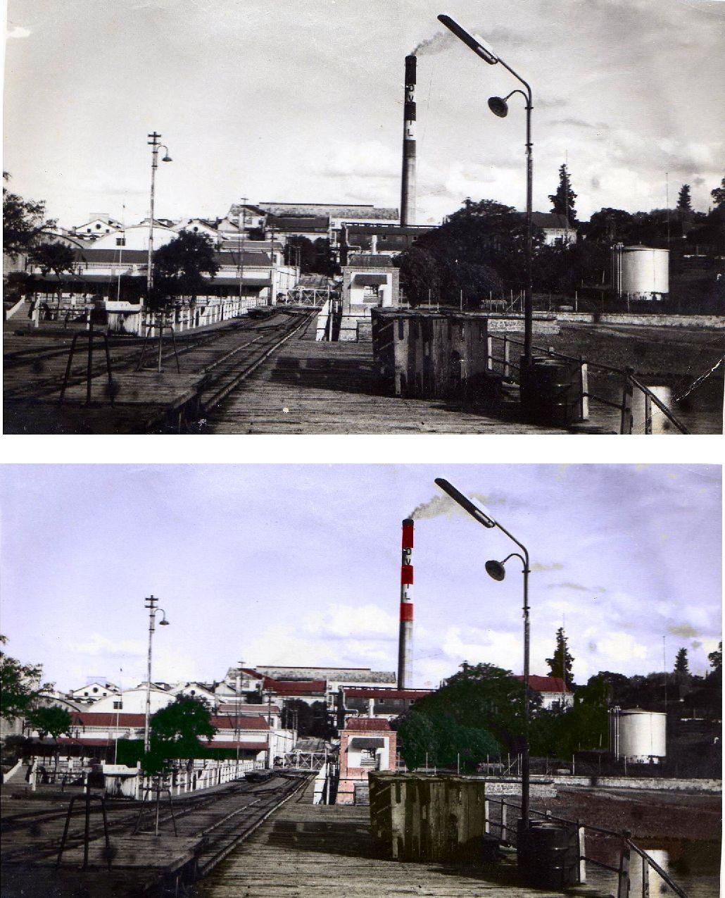 Dandole color a una vieja foto del Frigorifico Santa Elena