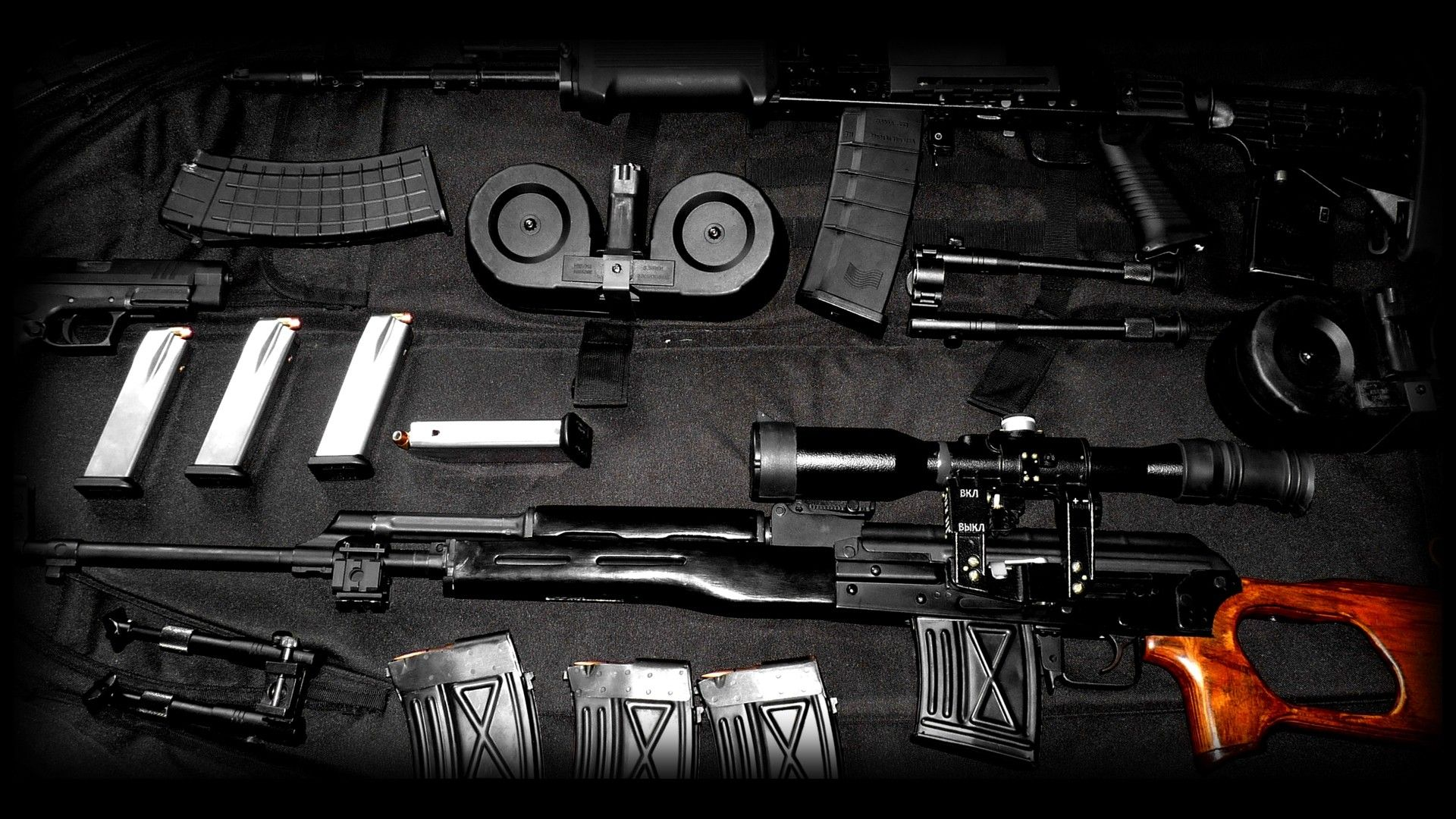 Download The AK47 And Dragunov Wallpaper IPhone