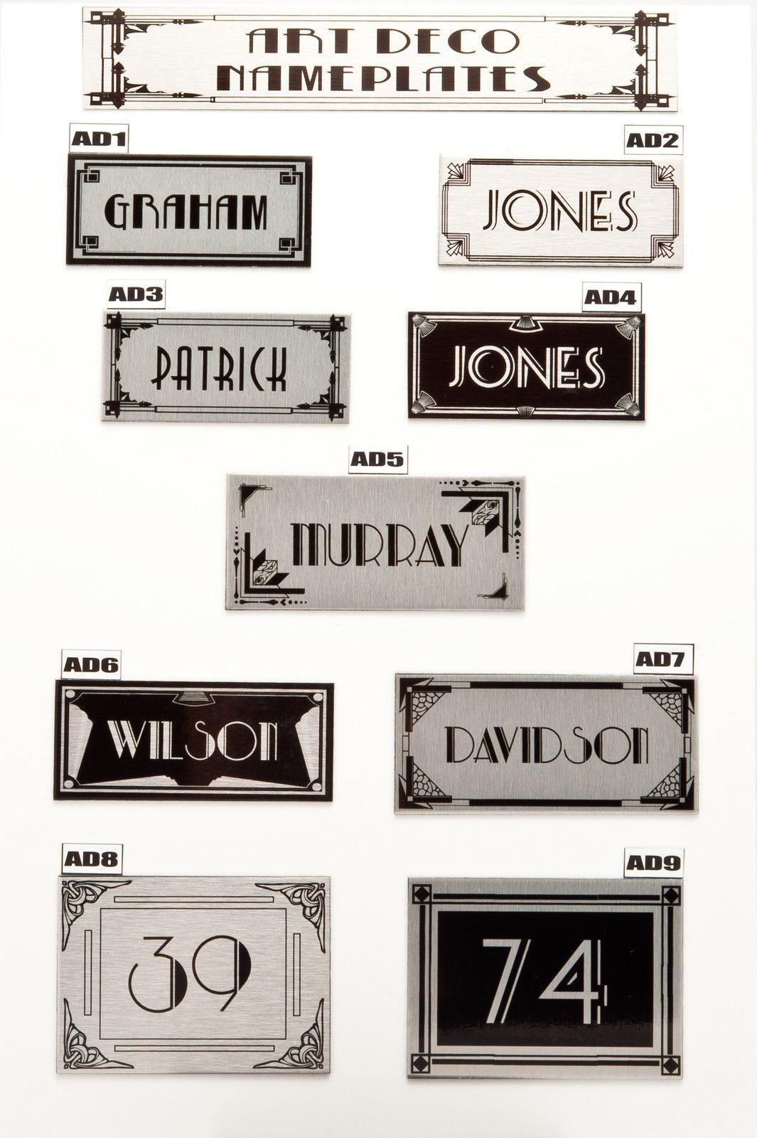 House Sign Plaque Personalised Name Plate Door Number Art Deco Nameplate   eBay