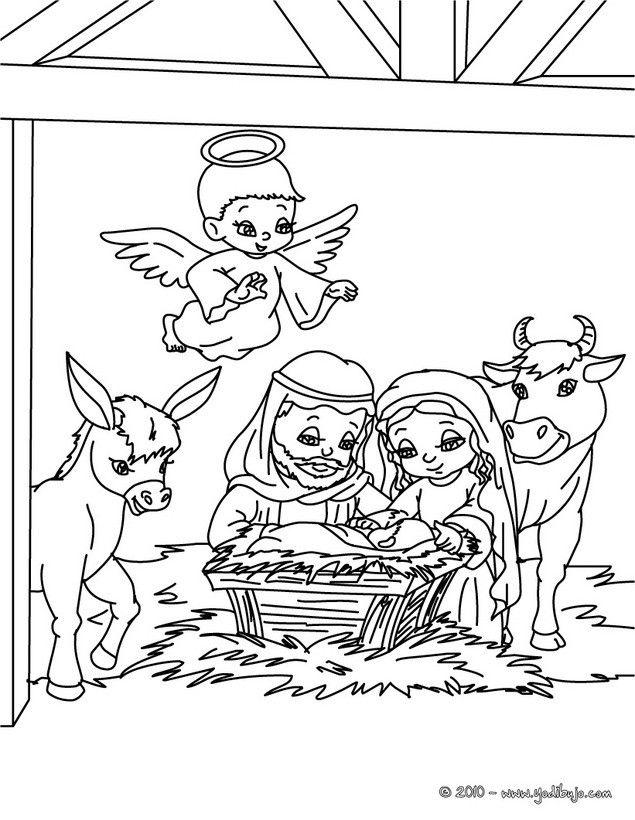 Para colorear dibujos de ni o jes s nacimientos de - Dibujos navidenos para imprimir y colorear ...