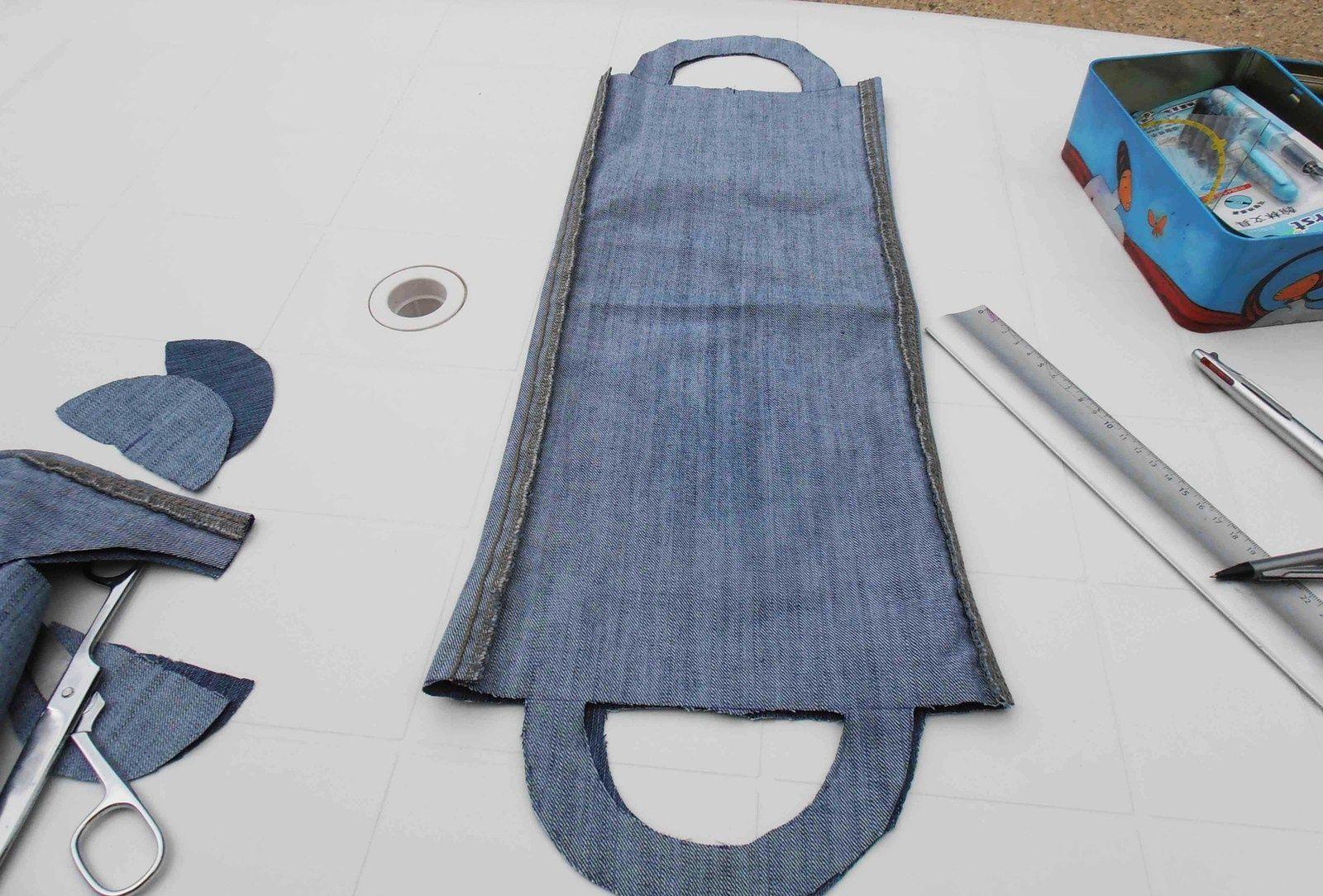 Un tout petit sac en jean pour vos livres souvenirs de plage z ro couture souvenirs de plage - Que faire avec un vieux jean ...