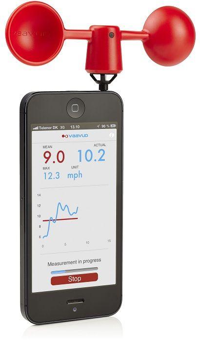 Smartphone Anemometer / Wind Gauge for iPhone, iPad