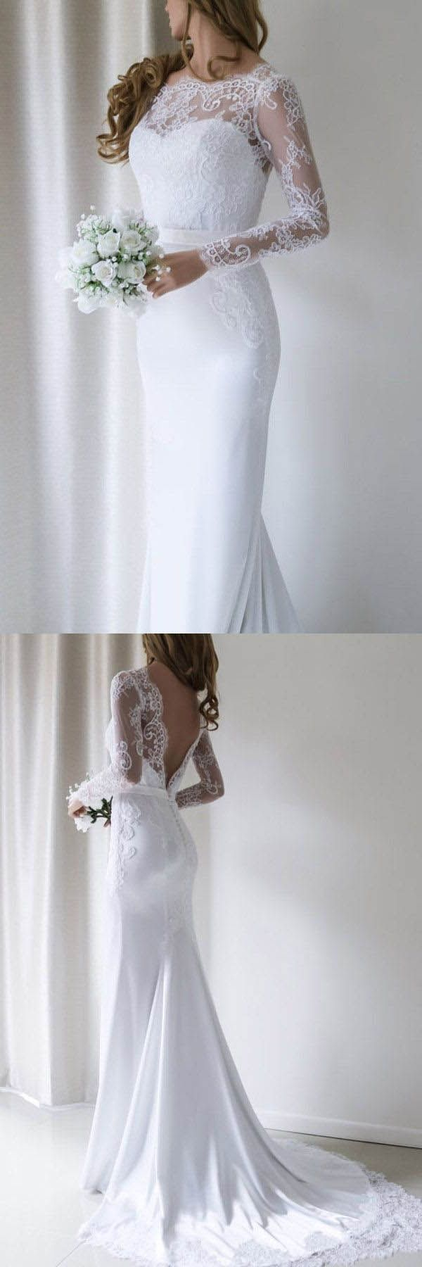 Custom made luscious mermaid wedding dresses elegant lace long