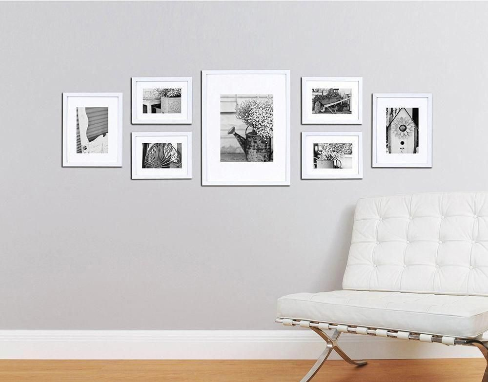 Details About Wall Frame Set White 7 New Picture Photo Gallery Solid Wood Frames Home Decor Wall Collage Decor Frame Wall Collage Frames On Wall