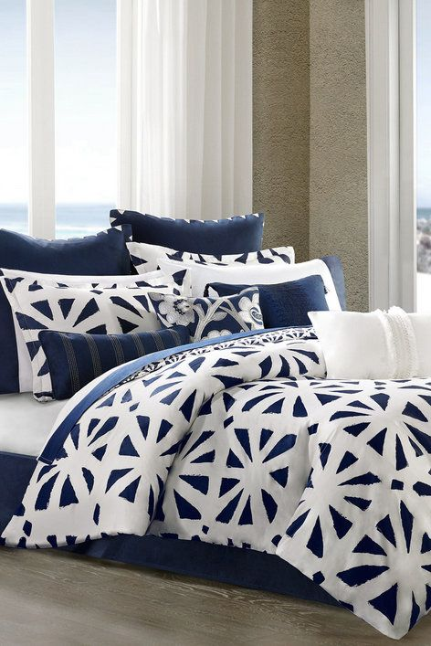 White Blue Trellis Comforter Set Comforter Sets Blue White