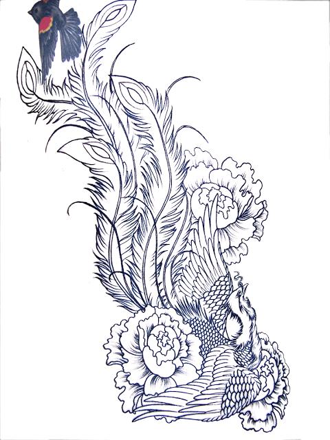 sleeve tattoo stencils amazing phoenix tattooos design for yours