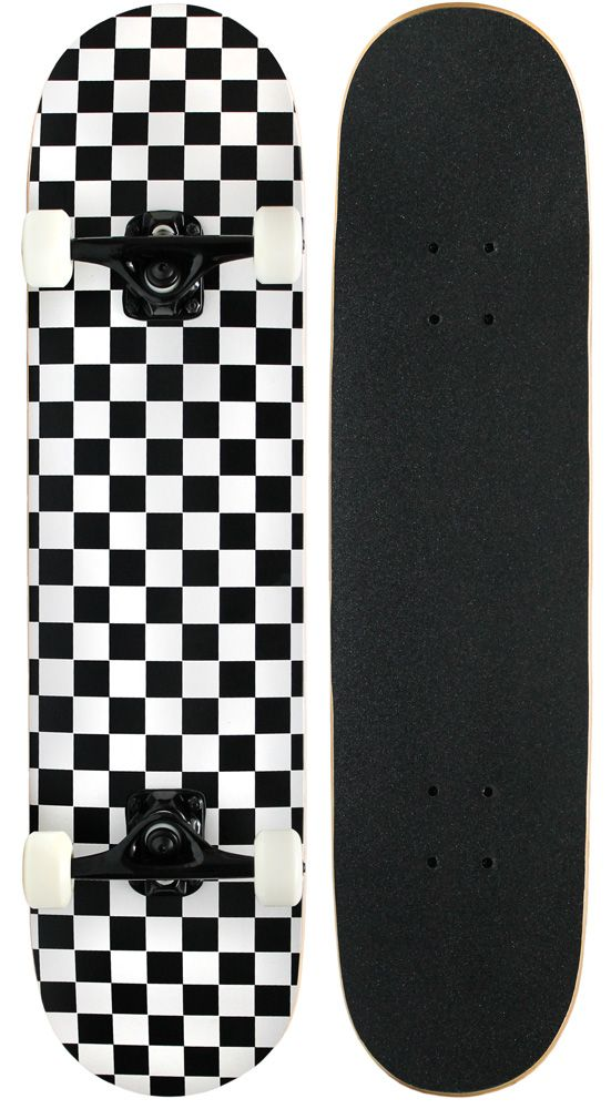 KPC Pro Skateboard Checker Black/White 7.75 - Walmart.com