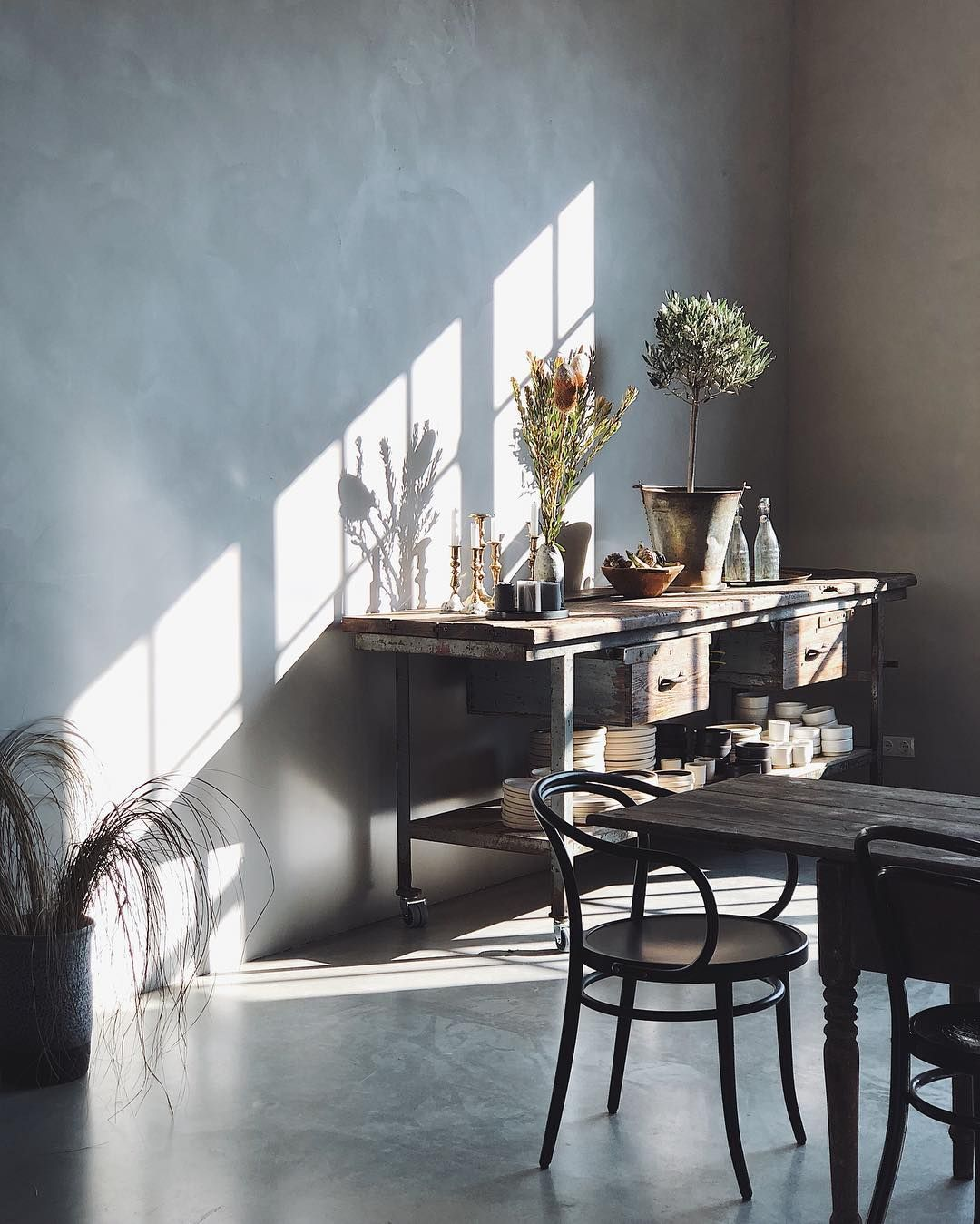 Vintage Interior With Rustic Elements In Our Studio Loft