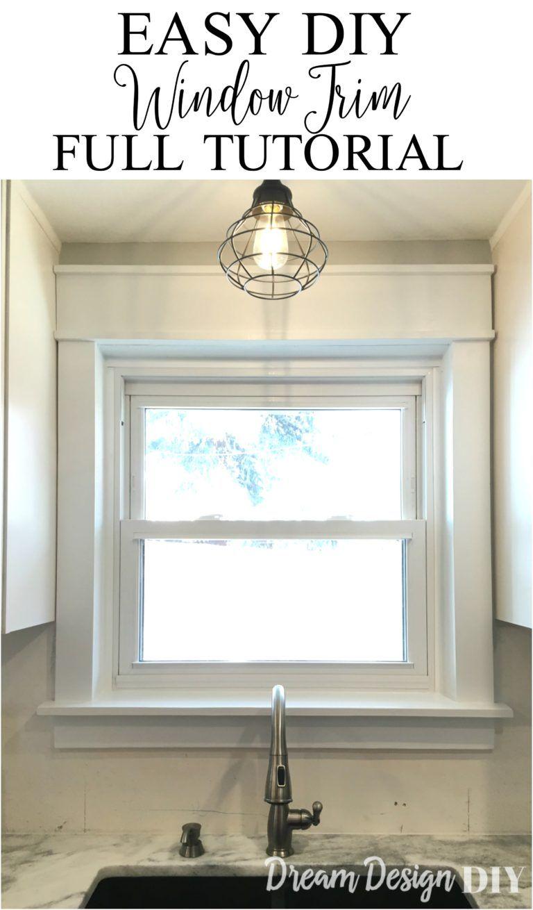 Wohnbeispiele Wohnzimmer Fur Bauen Fenster Decke Tollete   10 Easy Diy  Window Trim Renovieren Holz Und