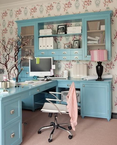 modern home office furniture collections Feminine home