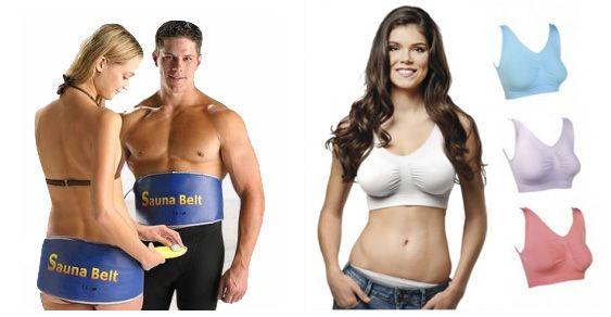 Cinturón Sauna Belt y Sujetadores Fitness en oferta