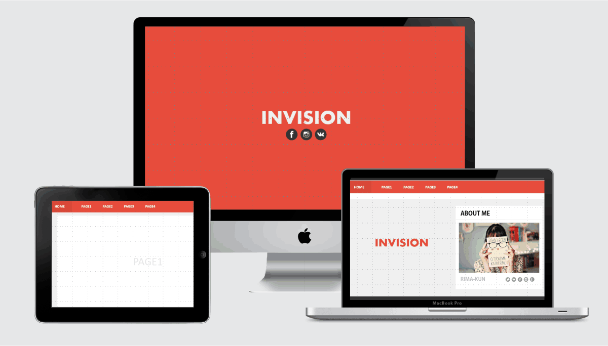 Invision Minimalis PPT Template | Template Powerpoint | Pinterest