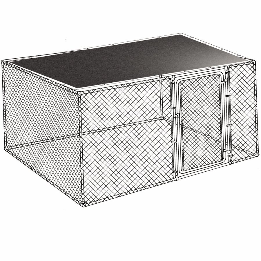 Shop 10 Ft L X 10 Ft W Plastic Kennel Cover At Lowes Com Kennel Cover Cheap Dog Kennels Dog Kennel Cover