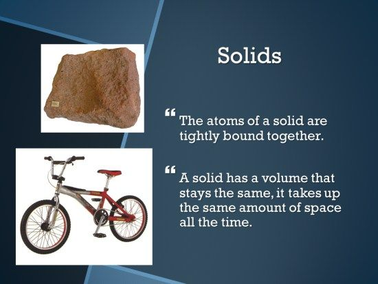 Solids Liquids And Gases Students Add A Title Solids And Two