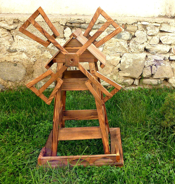 Windmill, wooden windmill, garden decoration | Windmill, Decoration ...