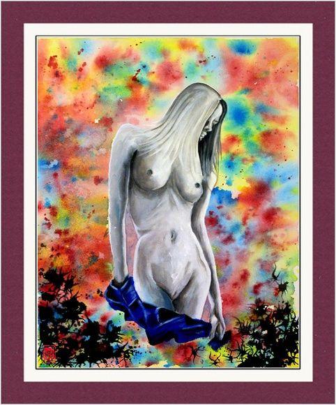 Rainbow Girl Limited Prints Nuked Girl Acrylic Painting Art