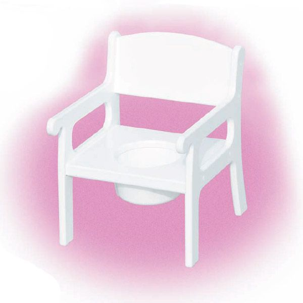 Wooden Potty Chair - White