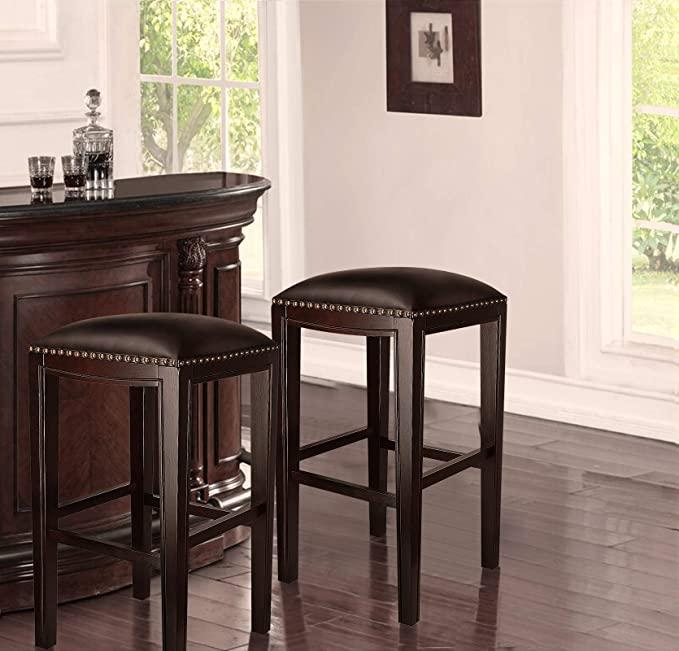 Amazon Com Furgle Set Of 2 Counter Stool Bar Stool 29 Inch Solid