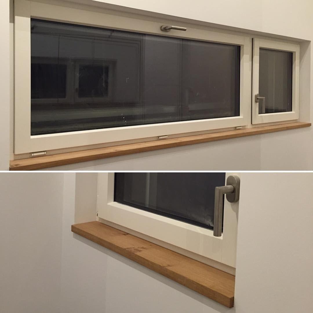 🔍 In den Bädern haben wir uns für Fensterbänke in Eiche, passend ...