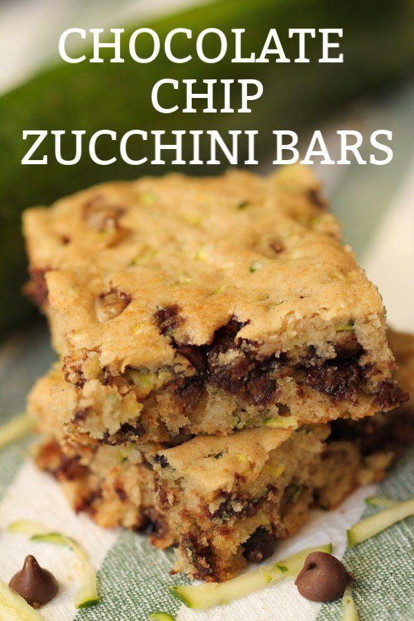 The Best Chocolate Chip Zucchini Bars -   14 desserts Bars restaurant ideas