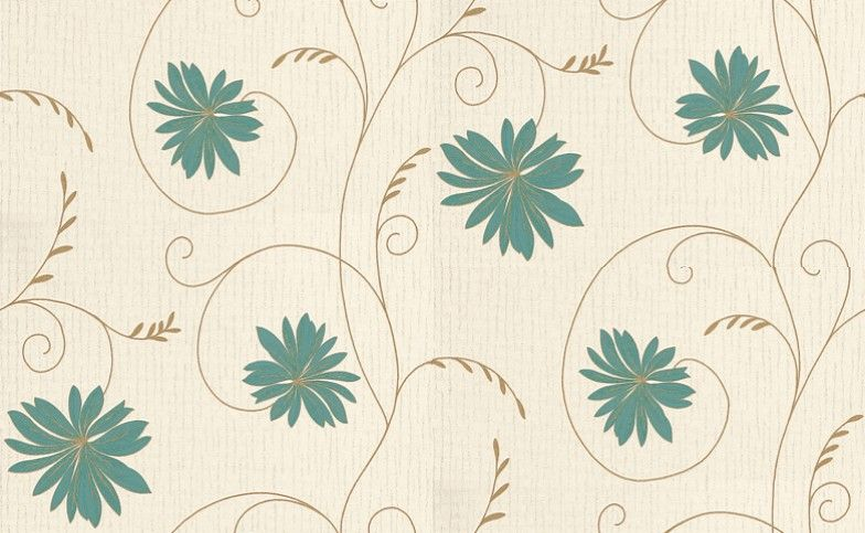 For Kiplyng's Room... Brigitte (6152) - Albany Wallpapers - This pretty all over floral trail has a slightly raised texture and metallic glitter highlights. Shown here in aqua blue and gold on a cream background - more colours are available. Please request a sample for true colour match.
