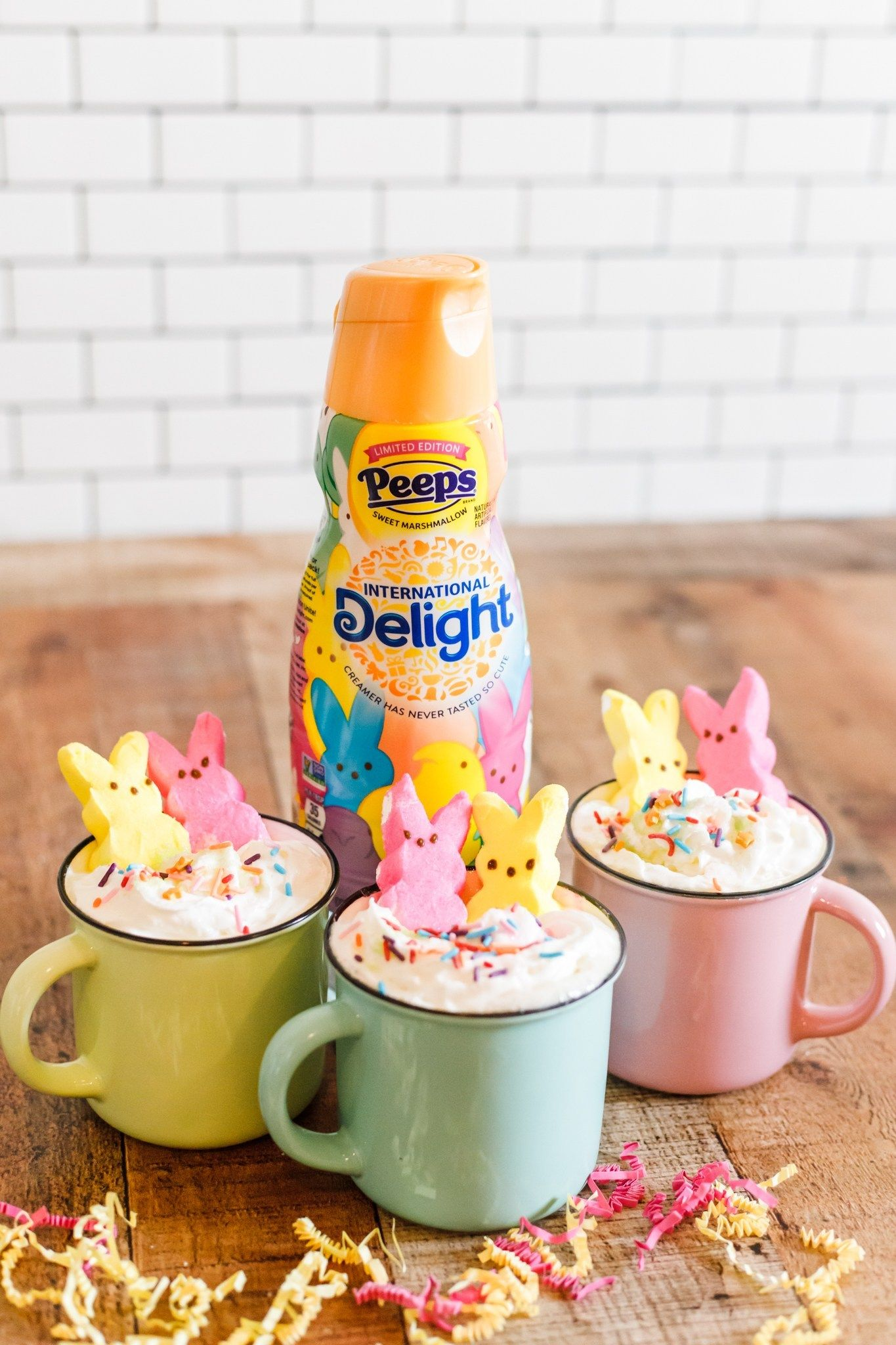 Spring Inspired Recipe PEEPS Hop Cocoa Coffee creamer