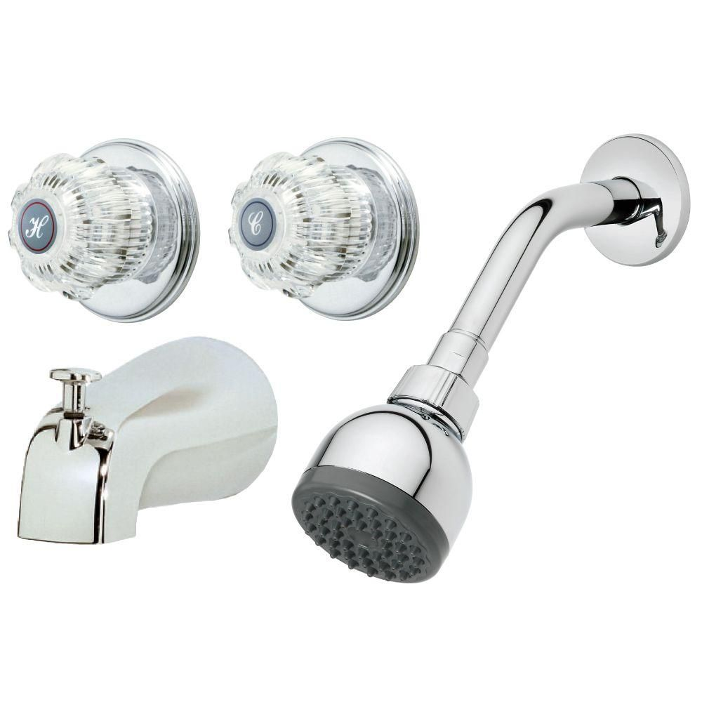 Homewerks Worldwide 2 Handle 1 Spray Tub And Shower Faucet In