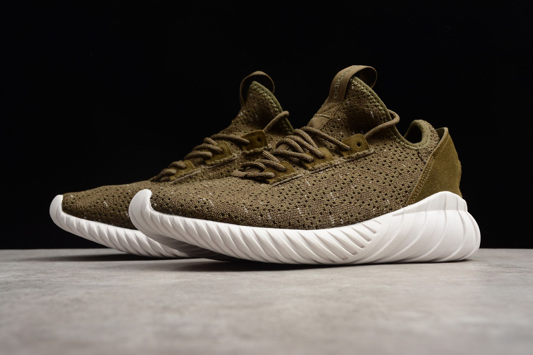 latest discount another chance exquisite style adidas Tubular Doom Sock Primeknit Trace Olive/White-Night ...
