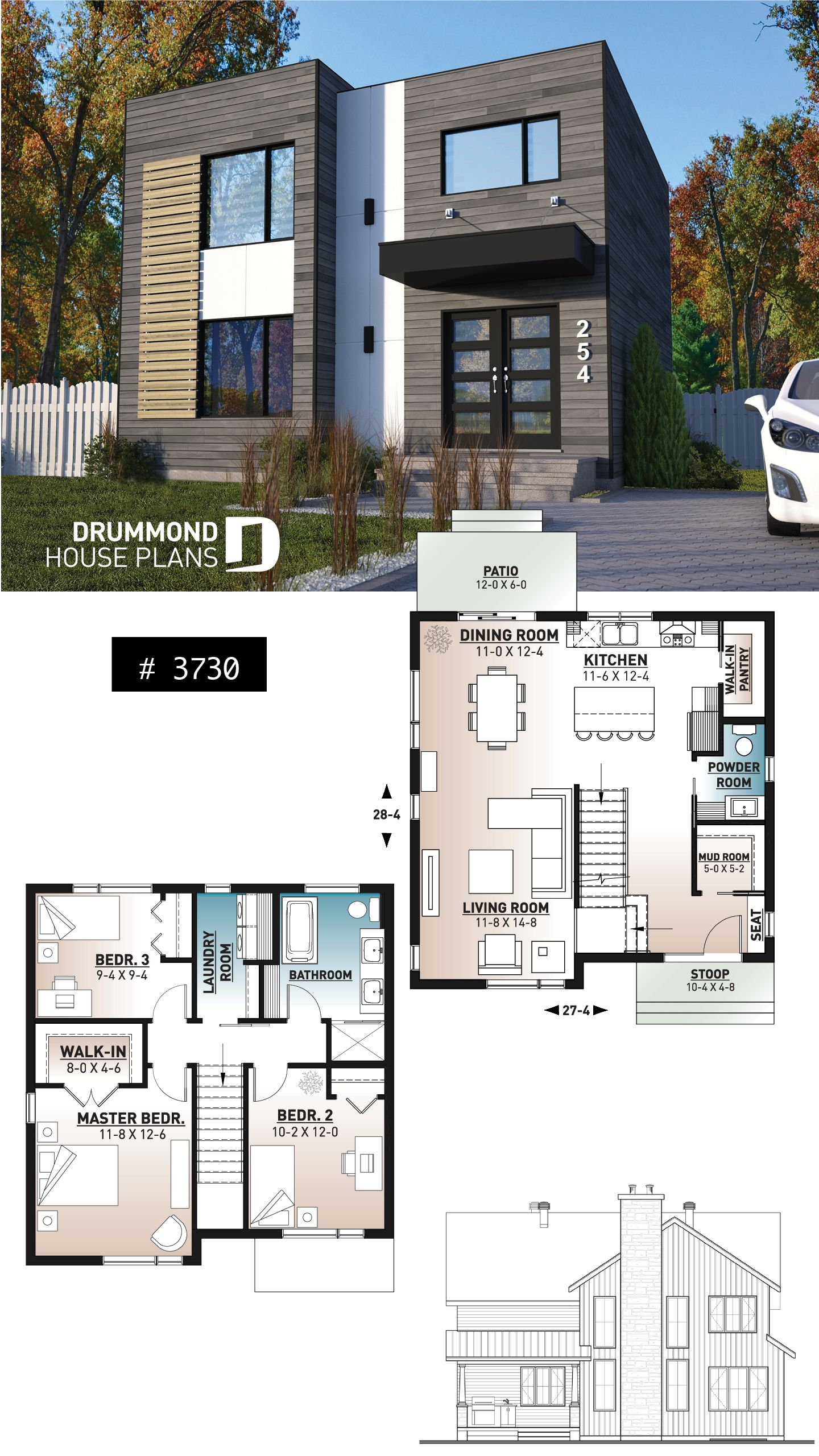 Plan De Maison Contemporaine Plan Maison Contemporaine Plans Petite Maison Moderne Maison Contemporaine