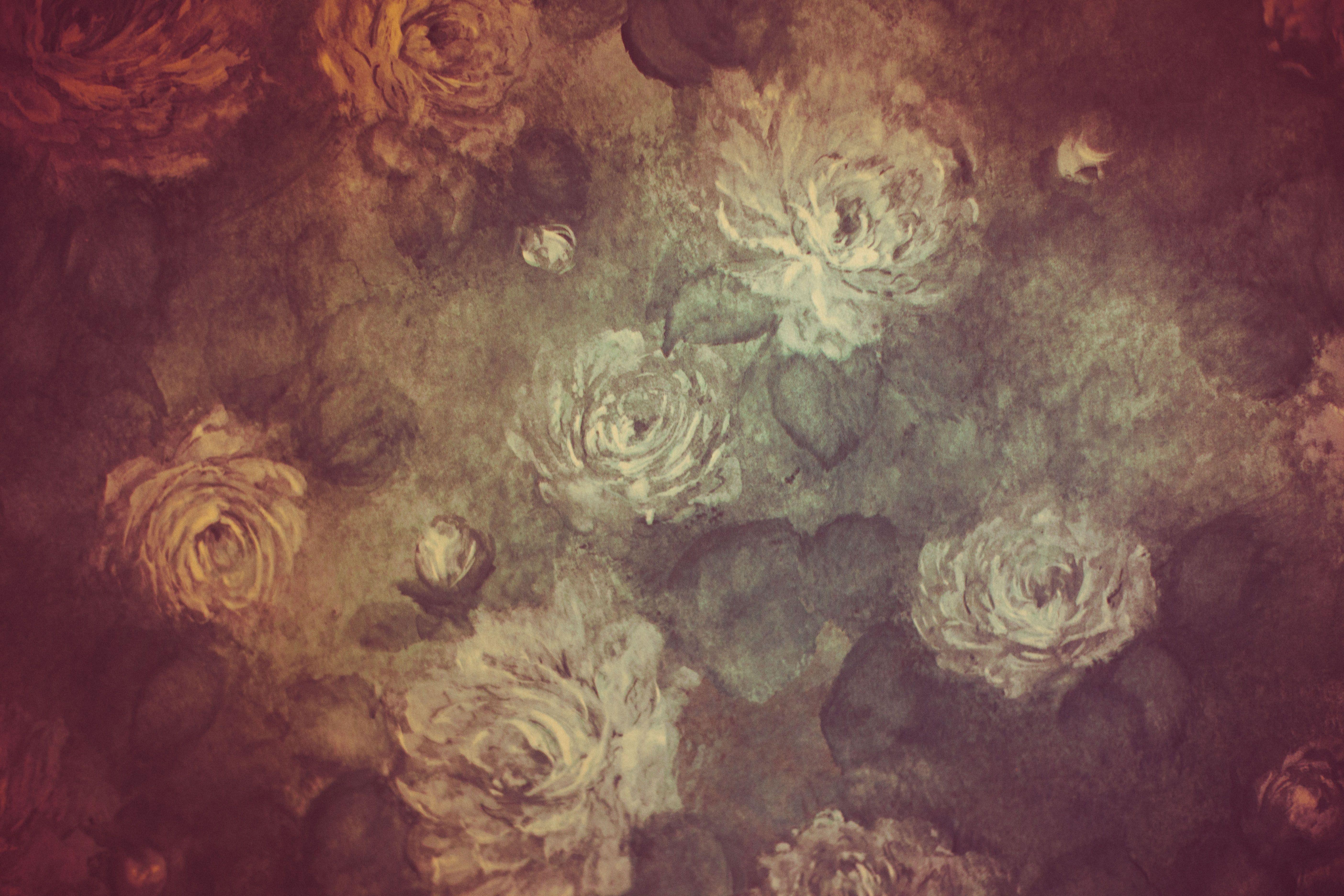 Free Vintage Floral Wallpaper Background Vintage Floral