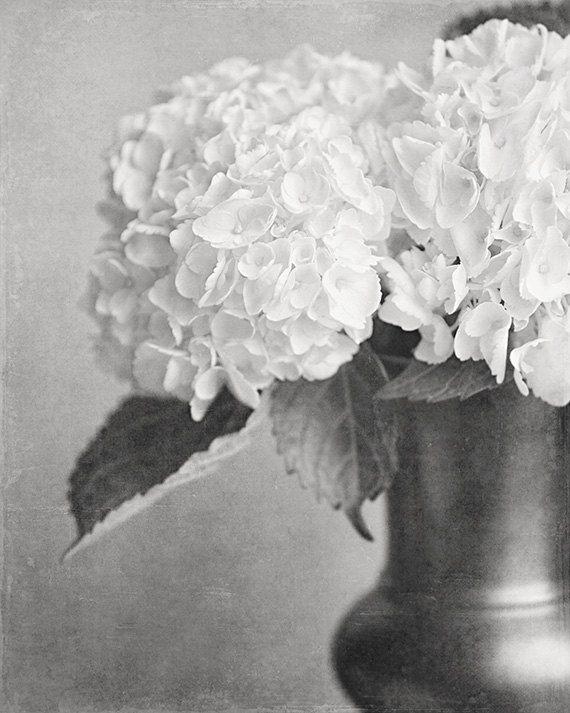 Blue & Green Faux Hydrangeas in a Soft Blue Chippy Vase ... |Country Hydrangeas Vase