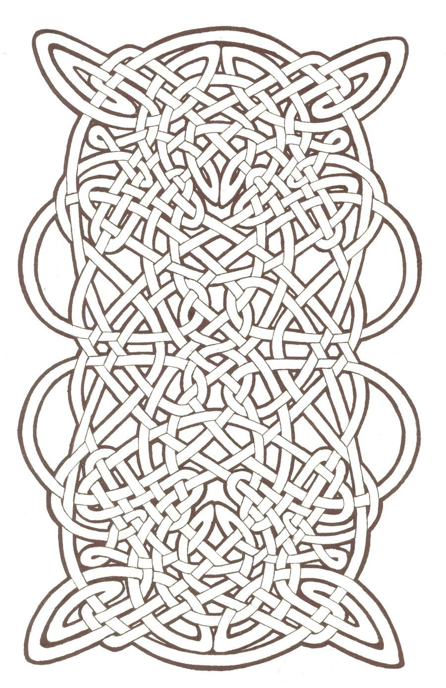 celtic knotwork by mozdynamite color art therapy patterns