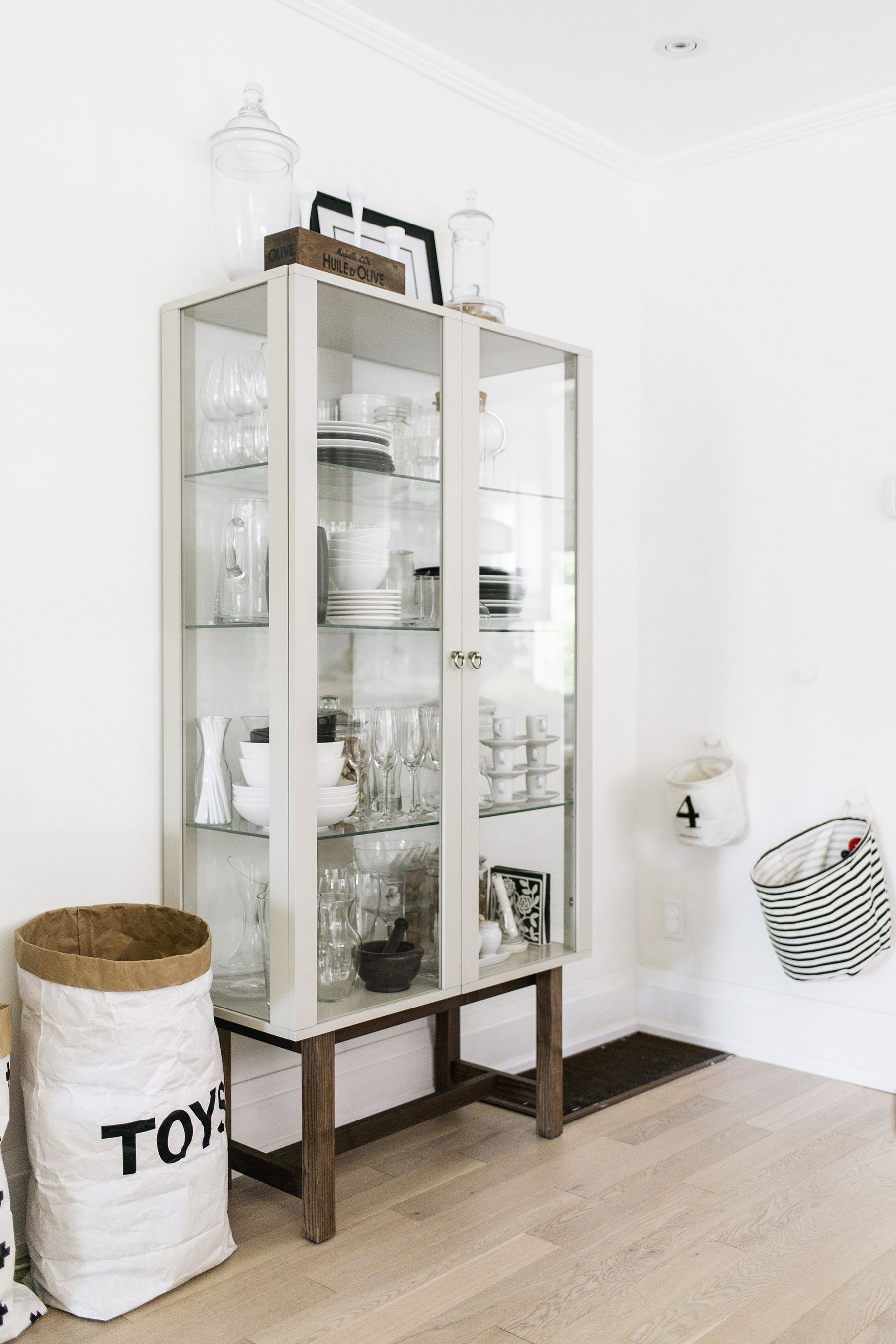 Scandinavian Inspired Dining Room   Ikea Stockholm Glass Cabinet | Happy  Grey Lucky