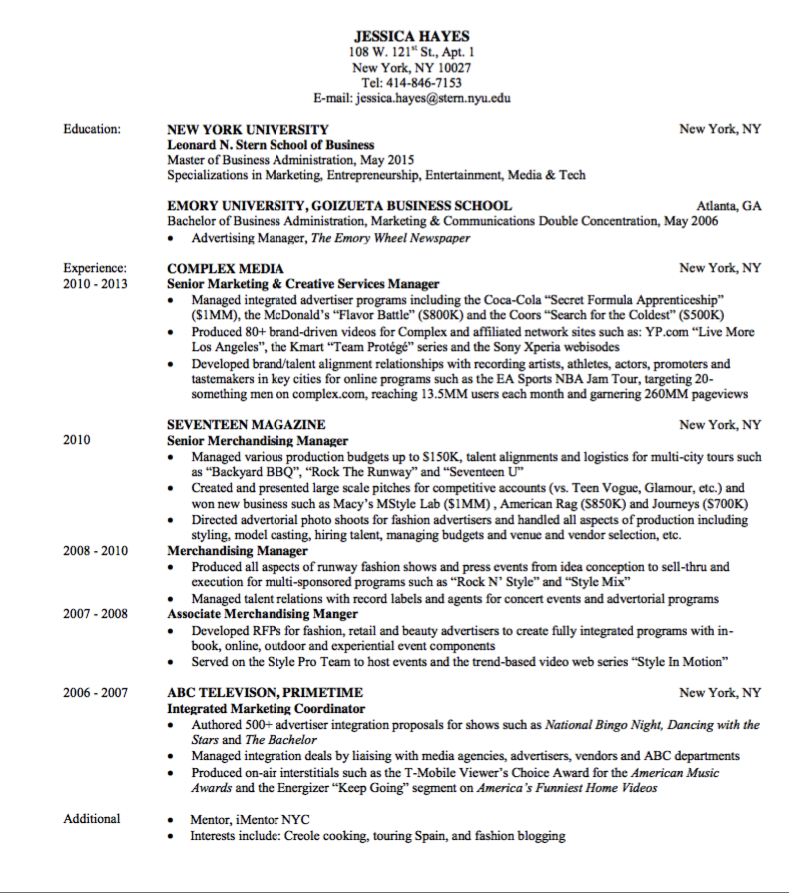 media publishing resume sample http exampleresumecv org media