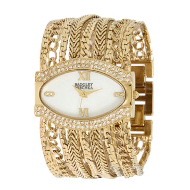 Badgley Mischka Gold Watch.
