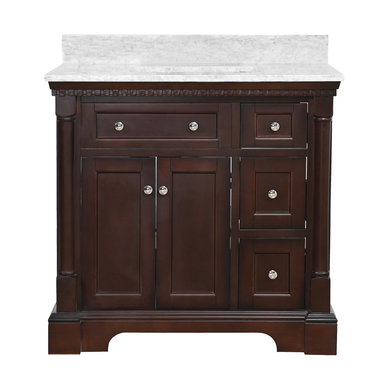 Sydney 36inch Vanity (Carrara Marble) in 2020 Kitchen