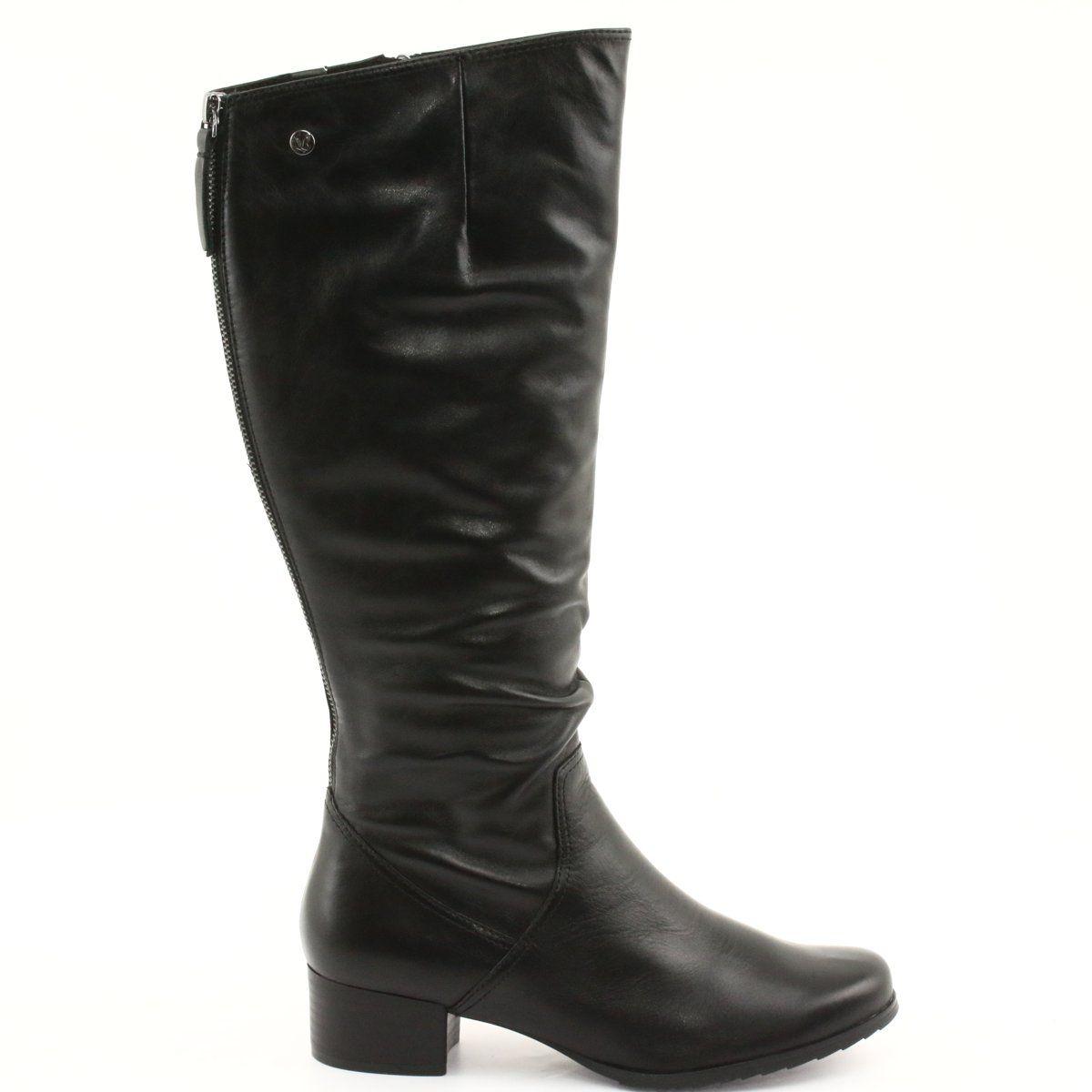 Kozaki Regulowane Caprice 25500 Czarne Boots Black Boots Womens Boots