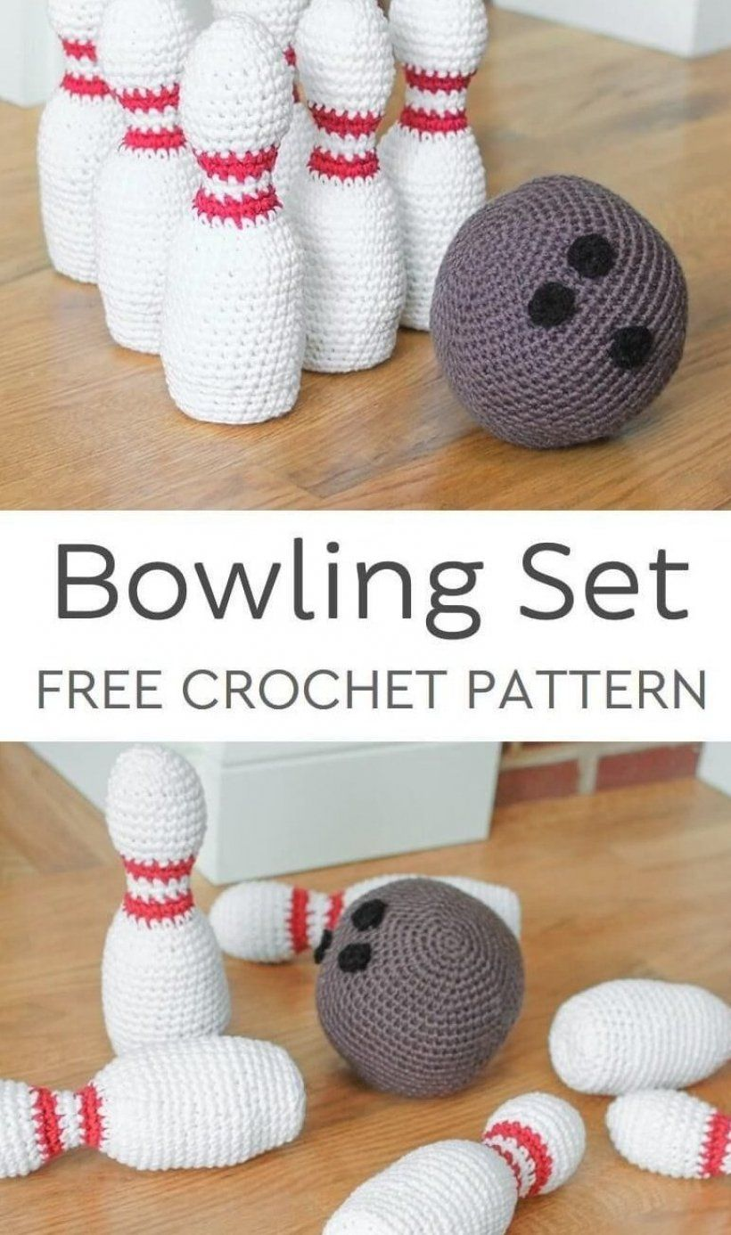 Little ones will love this adorable crochet bowling set  It s perfect for little hands and great for developing hand-eye coordination and spacial awareness  So much fun that older siblings will want to get in on the action too    petalstopicots  petalstopicotscrochet  p2pFiberArtsCommunity #knitting #patterns #knitting #patterns #free #knitting #for #beginners #knitting #projects #knitting #inspiration #knit #crochet