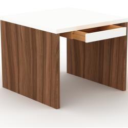 Photo of Schreibtisch Massivholz Weiß – Moderner Massivholz-Schreibtisch: mit 1 Schublade/n – Hochwertige Mat