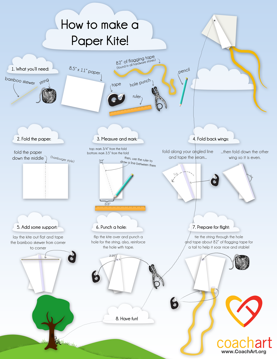 How To Make A Paper Kite Illustrated