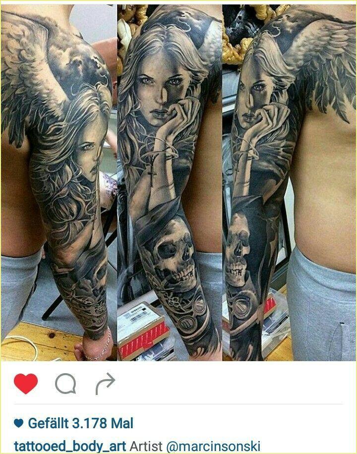 14 Tattoo Arm Mann Engel [post_tags