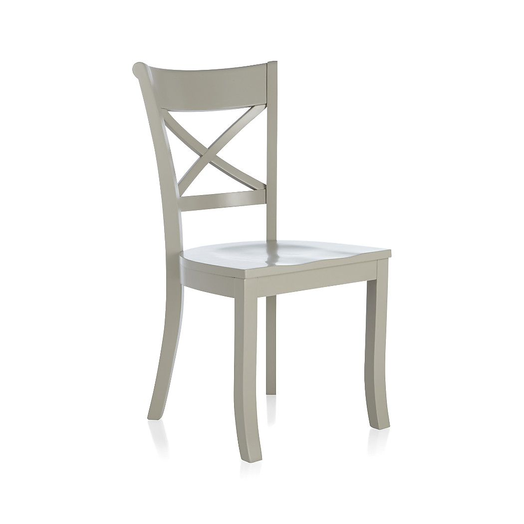 Shop Vintner Dove Wood Dining Chair And Black Cushion You Can