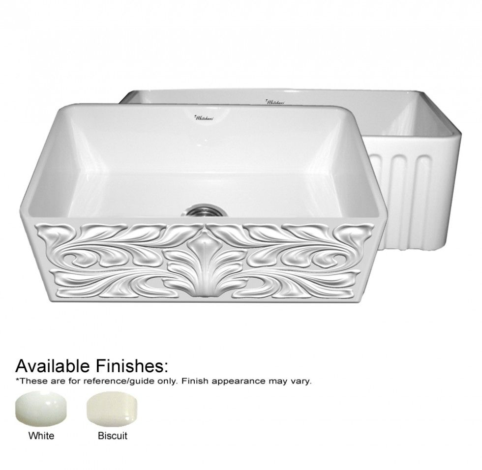 Whitehaus Whgo3018 Fls Gothichaus Series Fireclay Sink Sink Fireclay Sink Farmhouse Sink Faucet